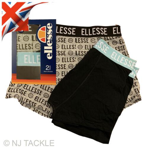 Ellesse Homme Lot de 2 Boxer Shorts Coton Sous-vêtements Boxers S//M//L//XL Nouveau UK STOCK