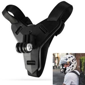 Soporte de casco ajustable para cámara deportiva negra GoPro Hero 5/7/6/8