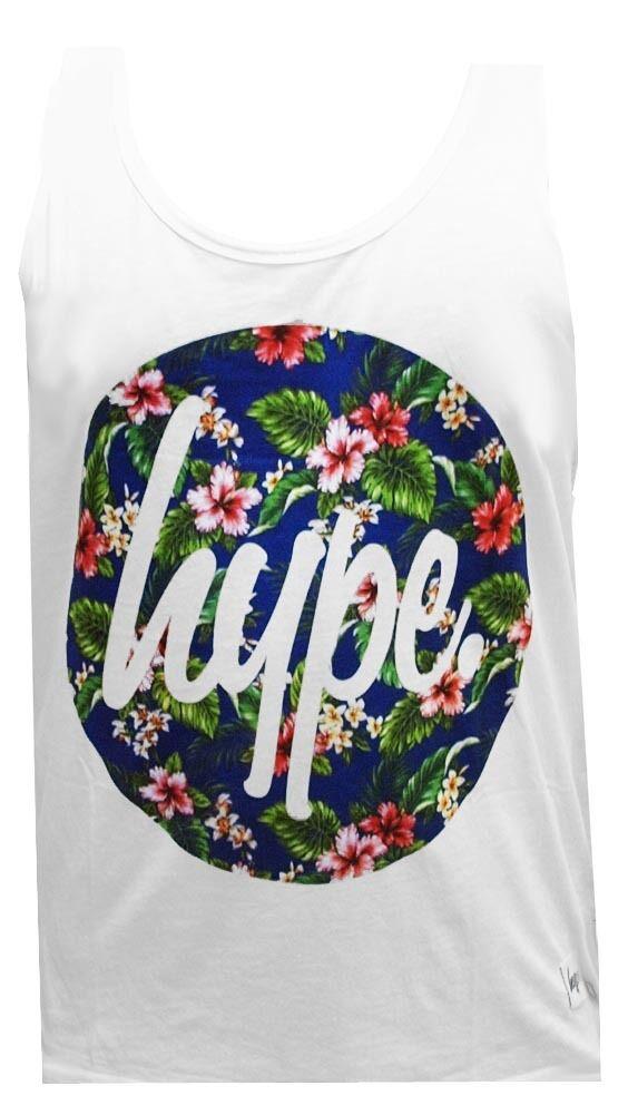Hype Tank Top Flower Circle Weiß T Shirt T-Shirt Herren Mens M L XL XXL Neu New    | Kaufen Sie beruhigt und glücklich spielen  | Neu  | Haltbar