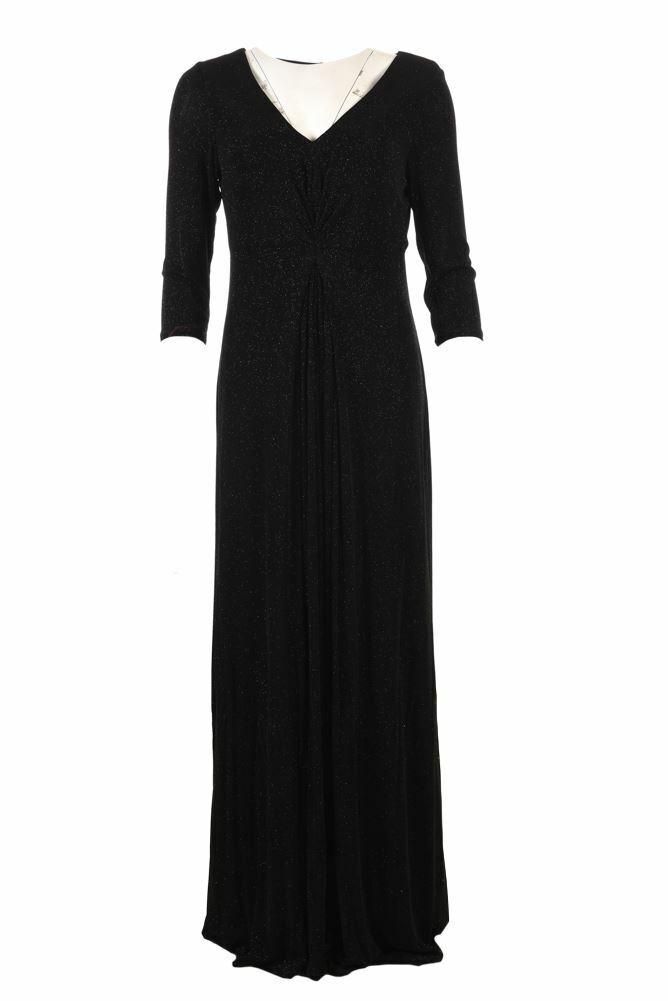 Fenn Wright Manson Kleid Schwarz Lurex Funkel Größe UK 14 Be 132