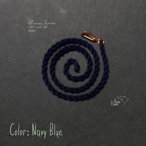 LSQ Breyer  LEAD ROPE  Navy Blue CM//Custom model horse tack Breyer accessories
