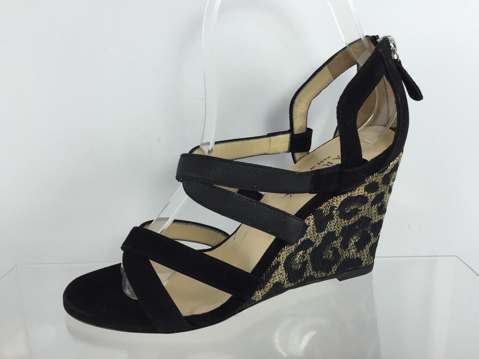 Gentlemen/Ladies Wedges Marvin K. Womens Black Wedges Gentlemen/Ladies 6.5 Exquisite (middle) workmanship New products in 2018 Comfortable and natural 5ea78c