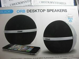 nib iwave orb desktop speaker stereo sound plug and play ebay. Black Bedroom Furniture Sets. Home Design Ideas
