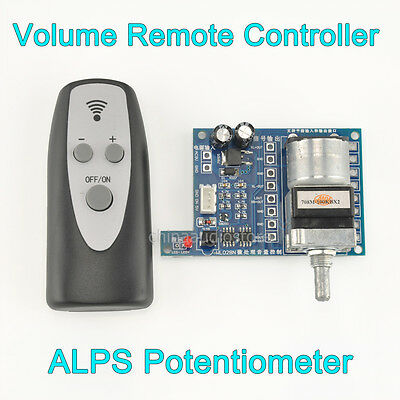 Details about NEW 100K ALPS Remote Control Volume Motorized Potentiometer  For Preamp Amplifier