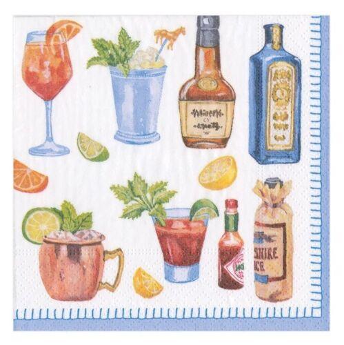Caspari Paper Beverage Napkins Happy Hour 2 Packs 15880C