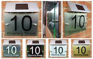 Image Is Loading Personalised House Number Sign Clear Acrylic Perspex Aluminium