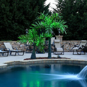 Image Is Loading Realistic Palm Tree Commercial Led Lighted Outdoor Pool