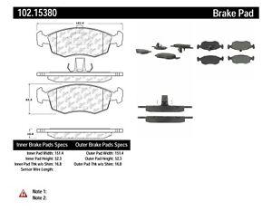 Disc Brake Pad Set-C-TEK Metallic Brake Pads Rear,Front Centric 102.07860