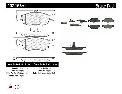 Centric Front Metallic Brake Pads 1 Set Fits 1977 Pontiac Grand Prix