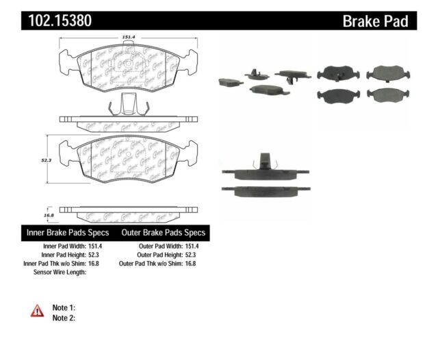 Metallic Centric 102.10620 Brake Pad