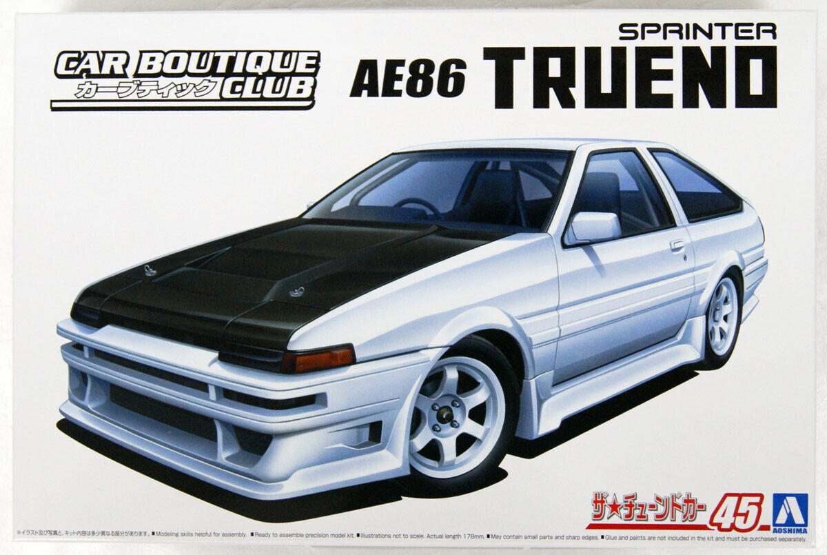 Aoshima Bunka Kyozai 1//24 The Tuned Car Series No.29 Toyota TRD AE86 Trueno N2 Specification 1985 Model Car