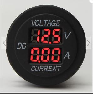 12V-24V-0-10A-Voltmeter-Ammeter-Digital-Motorcycle-LED-Meter