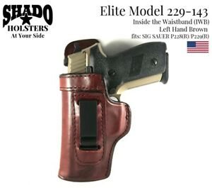 SHADO-Leather-Holster-USA-Elite-Model-229-143-Left-Hand-Brown-IWB-Sig-Sauer-P228