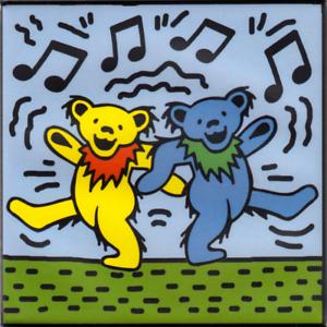 Details about Magnet - Dancing Jerry Bears Grateful Dead Music Band Fridge  Refrigerator 31152