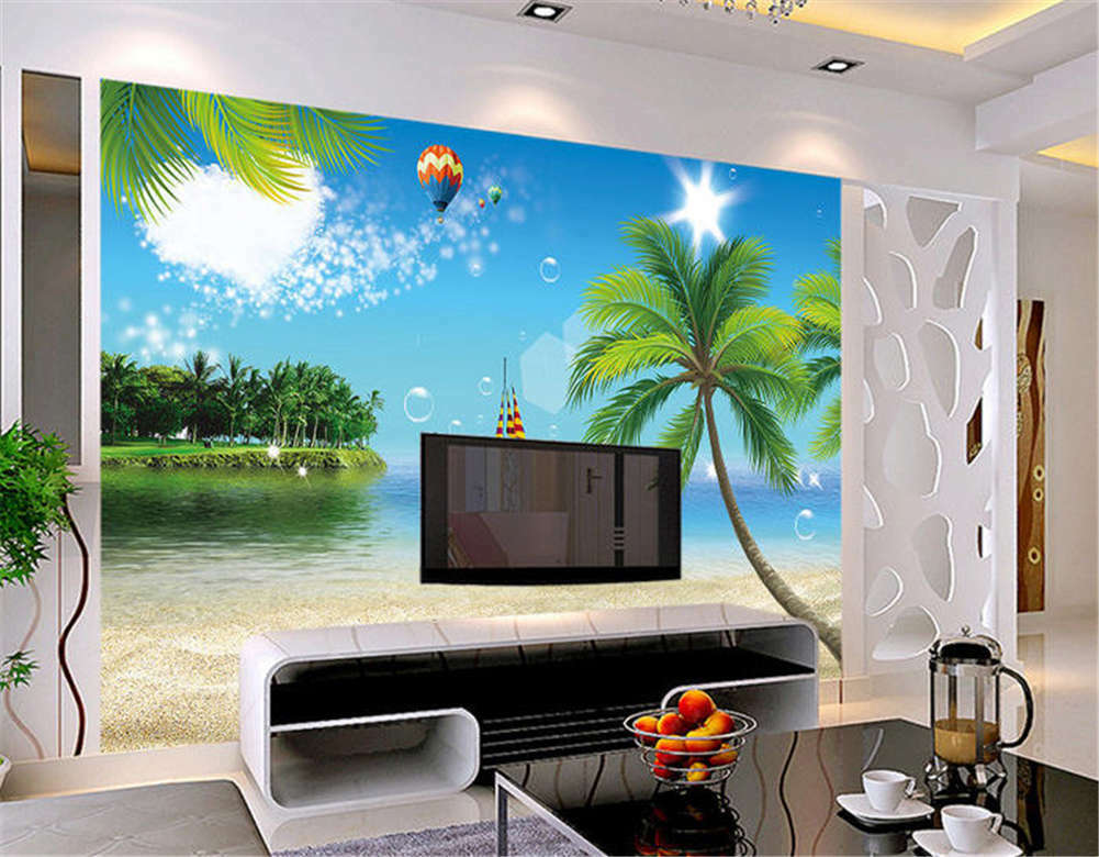 Liberal Full Coconut 3D Full Wall Mural Photo Wallpaper Printing Home Kids Decor