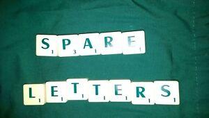 Scrabble piastrelle ricambi con lettere verdi i valori ideale