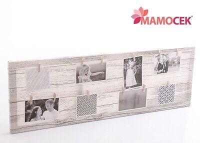 Motivata Pannello Tela Mollette Appendi Portafoto Memo 30x90 Decorazione Arredo Shabby Prezzo Moderato