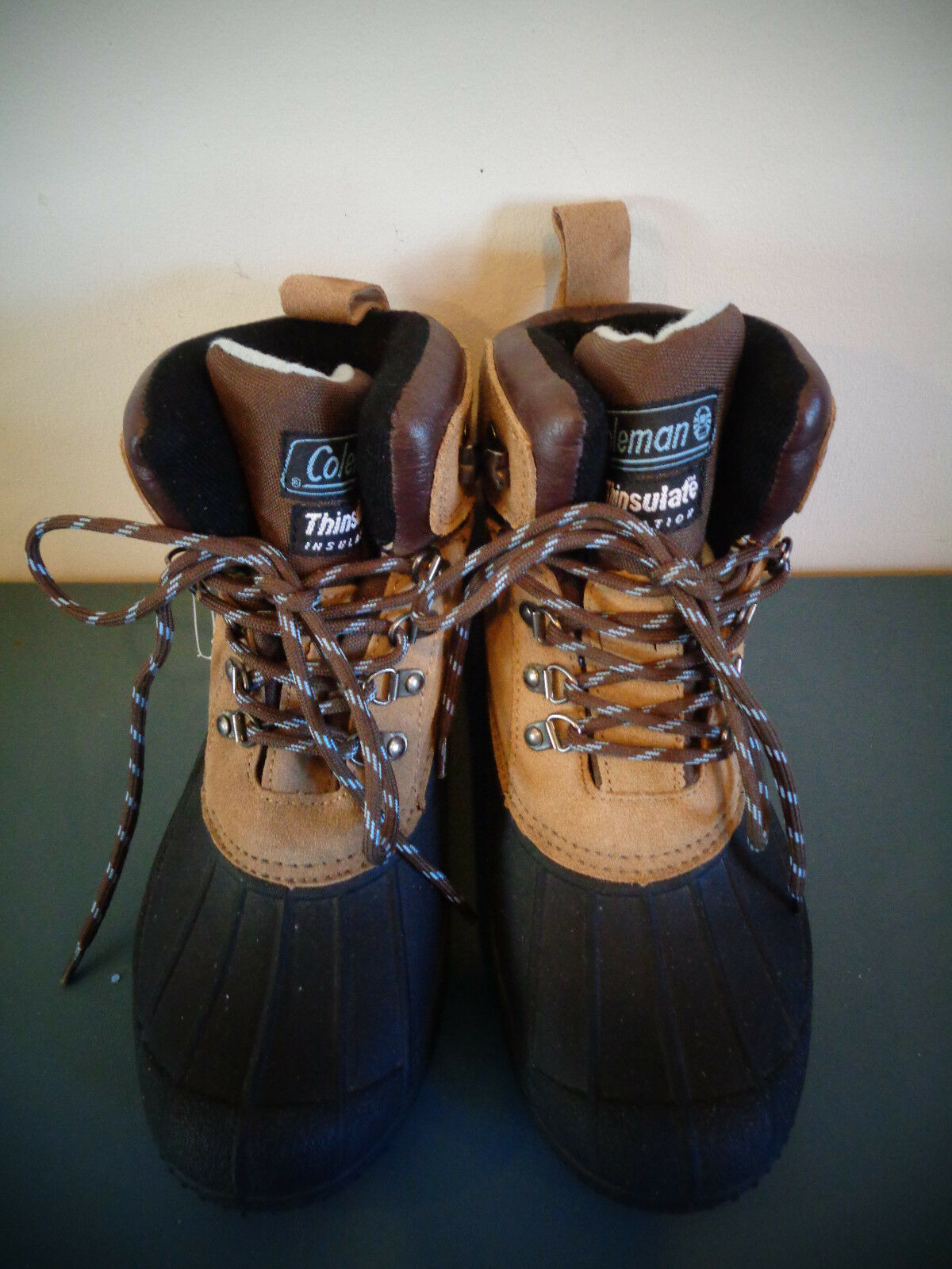 COLEMAN GLACIER LEATHER & RUBBER WOMEN'S SIZE 9 THINSULATE LINED WINTER BOOTS