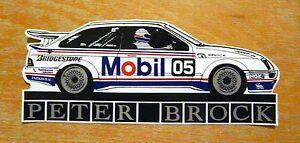Peter Brock Mobil Ford Sierra RS500 Touring Car Race Motorsport Sticker / Decal
