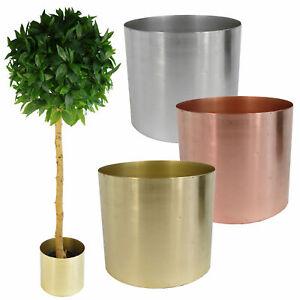 Image Is Loading Leaf Design Uk Metal Planters Large Copper Br