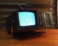 """Vintage Sears Portable 5"""" Receiver TV Television AM FM Radio  Retro Old School"""