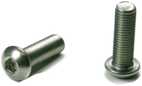 Stainless Steel Button Head Socket Cap Screw 6m x 1.0 x 12m Qty-100 Metric