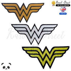 Wonder-Woman-Super-hero-Embroidered-Iron-On-Sew-On-Patch-Badge-For-Clothes-etc