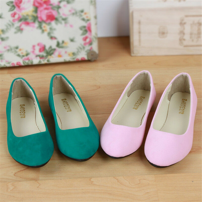 Womens Casual Flat Suede Shoes 0F Ballerina Ballet Loafers Slip On Shallow mothe