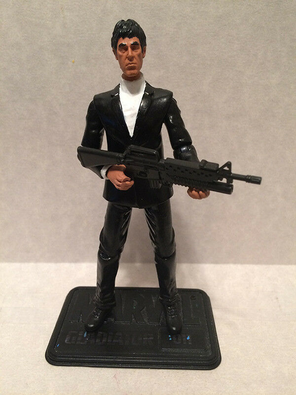 Custom 3.75  Scarface TONY MONTANA figure - poseable & MADE TO ORDER