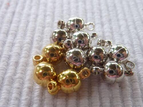 10 Magnetverschlüsse Magnetschließe Magnetverschluss rund 6 mm Mix Mischung 1229