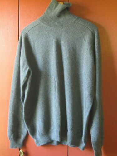 MENS GREY 100% CASHMERE SWEATER  XL