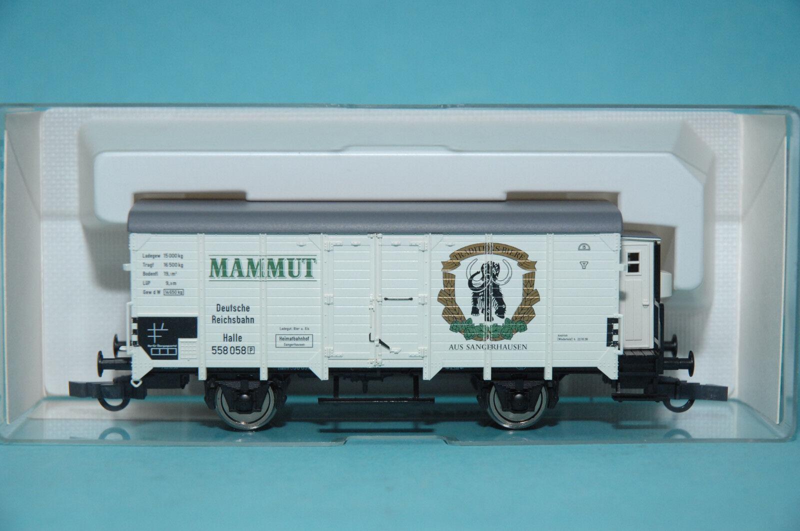 Fleischmann 855346 abgedeckt gterwagen  mammut  halle   555 000 drg ep.ii