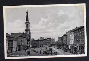 107455-AK-Frankenstein-Schlesien-um-1940-Ring-Rathaus-Autos