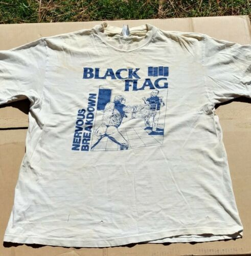 Early '90s Black Flag Nervous Breakdown Punk T-shi
