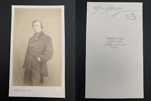 Numa-Paris-Edmond-Geffroy-acteur-peintre-Vintage-carte-de-visite-CDV-Edm