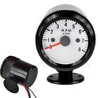 "Black Car Motor Universal Pointer 2"" 52mm Tacho Tachometer Gauge Dials RPM"