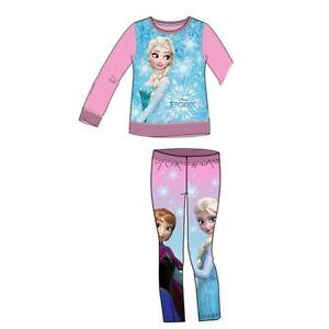 56bb8479bf Das Bild wird geladen Disney-Frozen-Jogginganzug-Leggings-Pullover-Hose -Sweatshirt-Kinder-