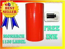 Fluorescent Red Label For Monarch 1130 Pricing Gun 1 Sleeve10 Rolls