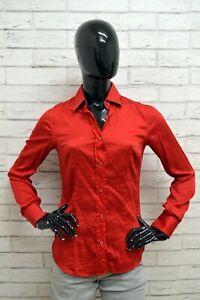 Camicia-DANIELE-ALESSANDRINI-Donna-Taglia-M-Maglia-Blusa-Camicia-Shirt-Rosso