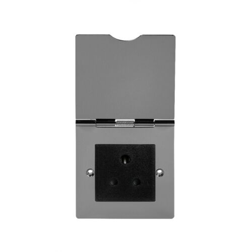 Soho Lighting Black Nickel 5 Amp Euromod Floor Socket 1 Gang Blk Ins