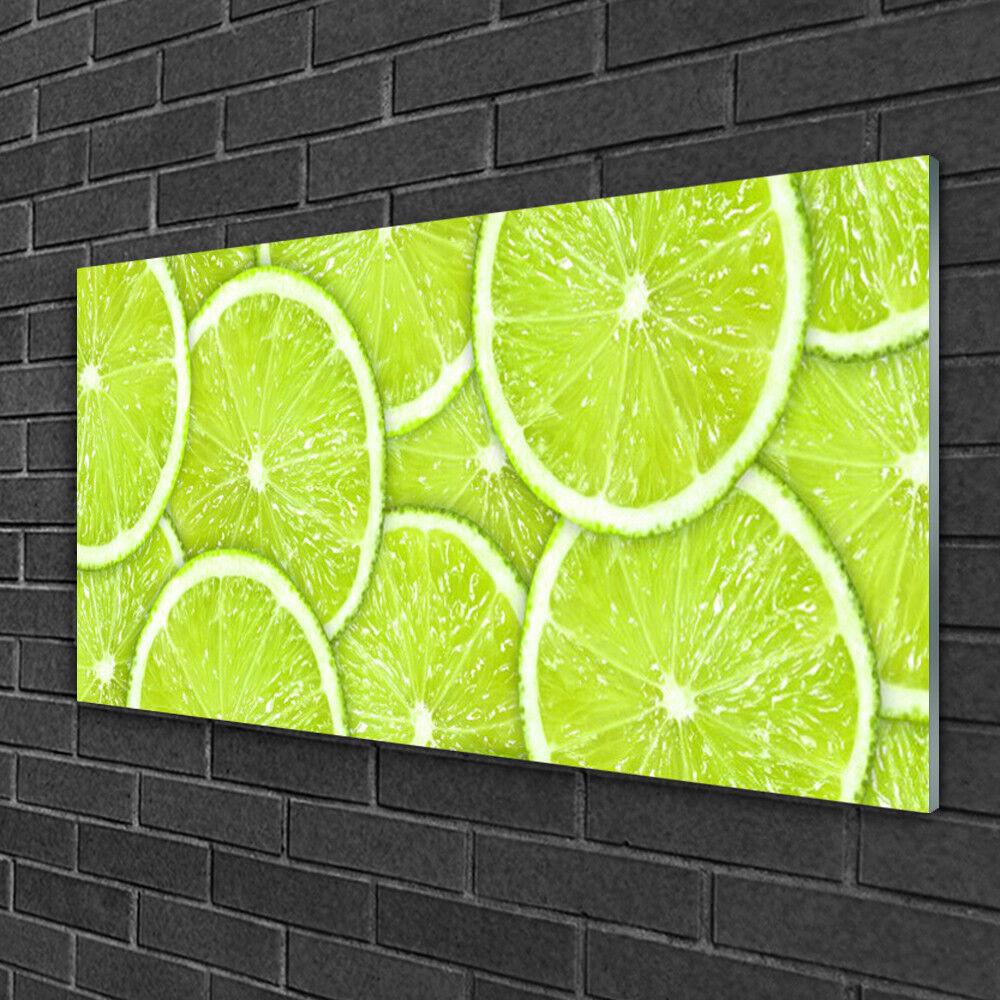 Immagini in vetro 100x50 Muro Immagine Stampa su vetro LIMETTE CUCINA