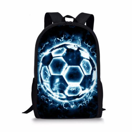 "Football Soccer School Bag Backpack Boys Mens 17/"" Travel Rucksack Teens Day Pack"