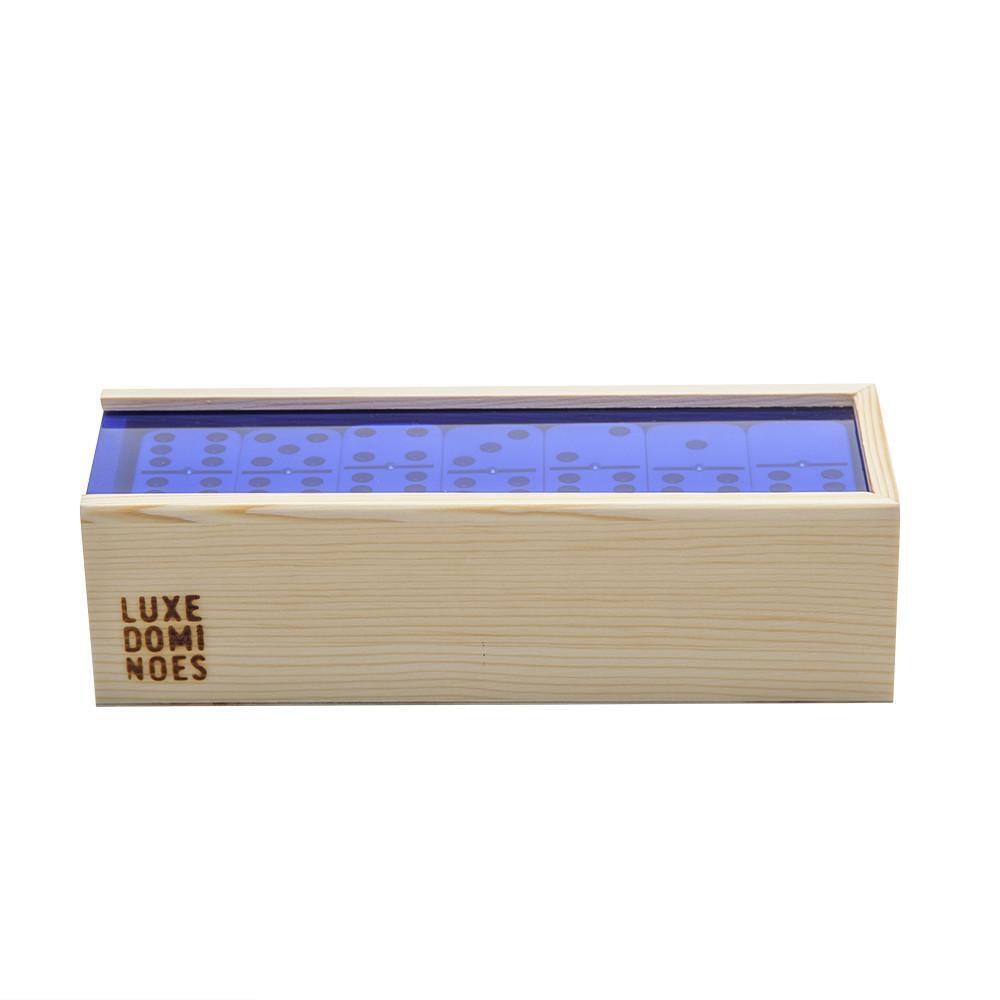 el woody  domino - set - blau