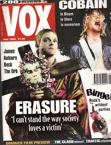 VOX Magazine UK June 1994 Kurt Cobain The Clash James Auteurs 100220ame2