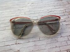 80s vintage over sized red & clear polaroid sunglasses deirdre style sunglasses
