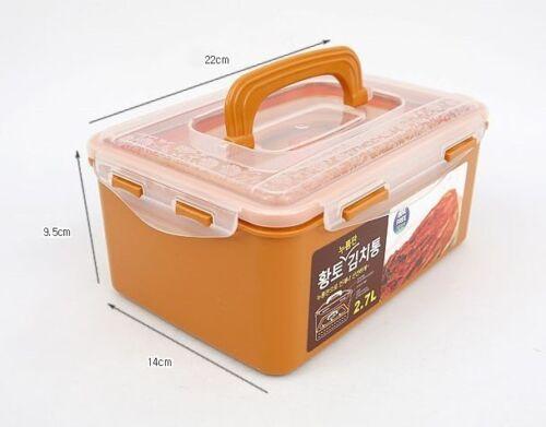 BPA Free Korean Red Clay HWANGTO Vacuum Airtight Kimchi Container 2.7L 6.3L