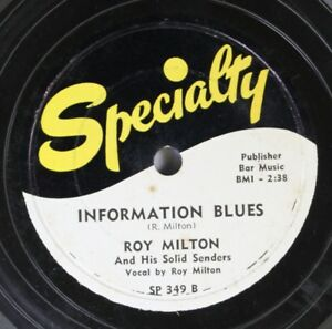 Hear-Blues-78-Roy-Miton-Information-Blues-My-Sweetheart-On-Specialty