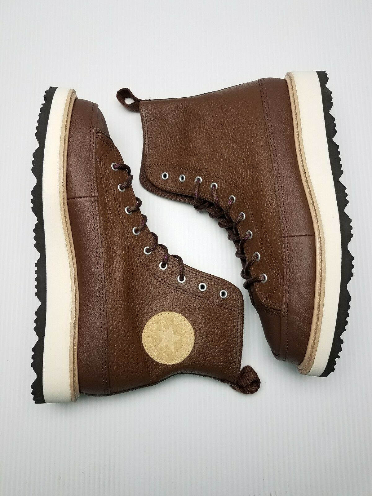 Converse CT Crafted Boot HI Men Size 7.5 Chocolate Leather 162354C Chuck Taylor