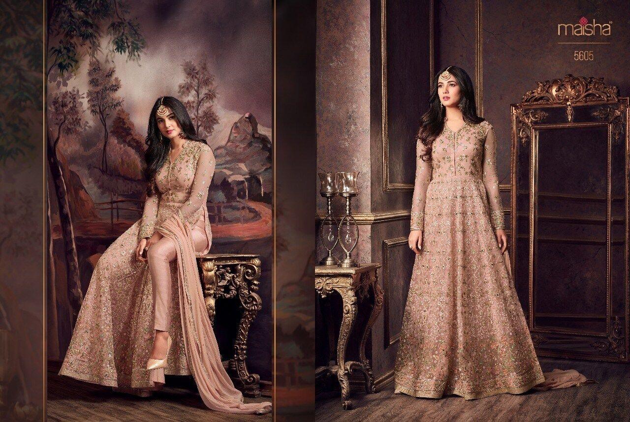 Indian Anarkali Suits Designer wear Fully Stitched for Wedding, EID Maisha 5605