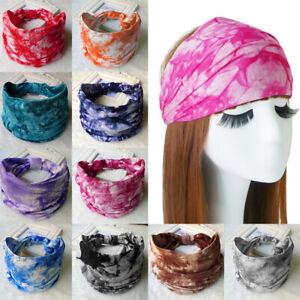 Haarwickel Frauen Tie Dye Yoga Stirnband Sport Baumwolle Kopfwickel Haarband